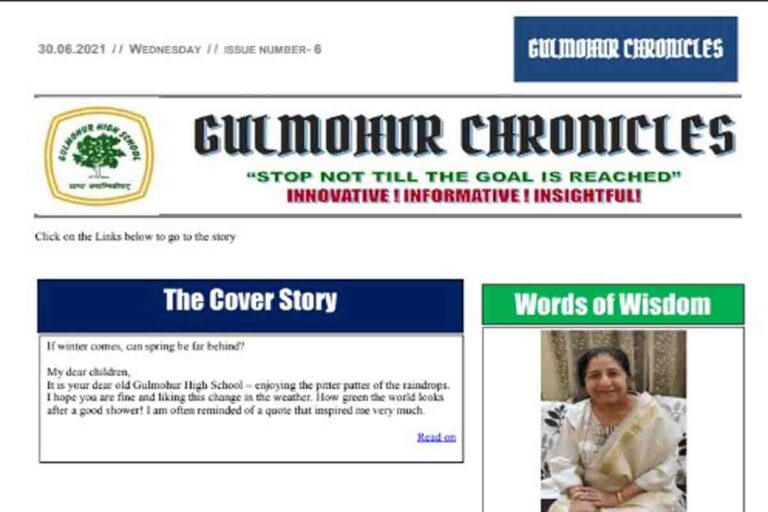 Read more about the article Gulmohur Chronicles 6th Edition